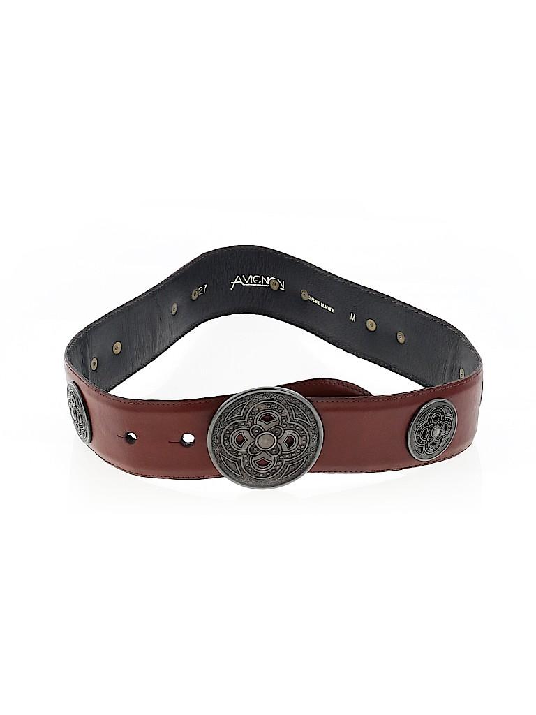 Avignon Women Leather Belt Size XS