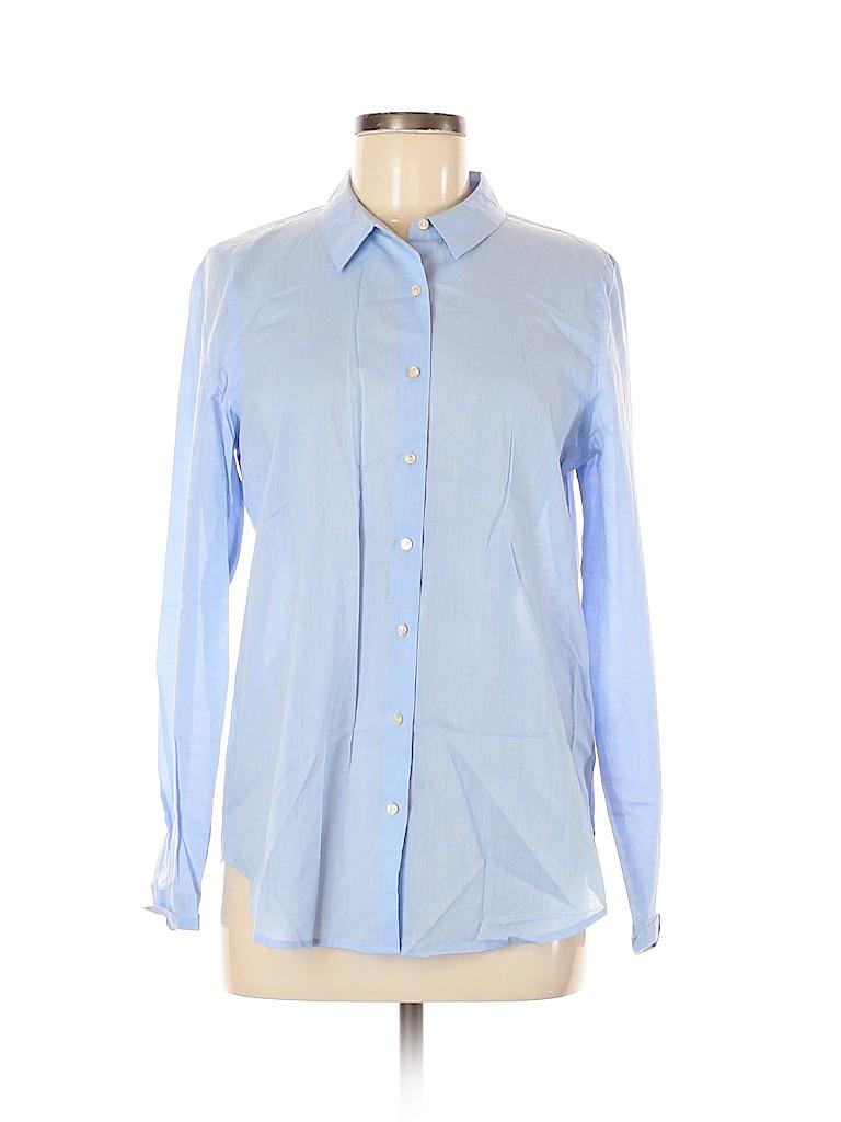 Scotch & Soda Women Long Sleeve Button-Down Shirt Size Med (2)