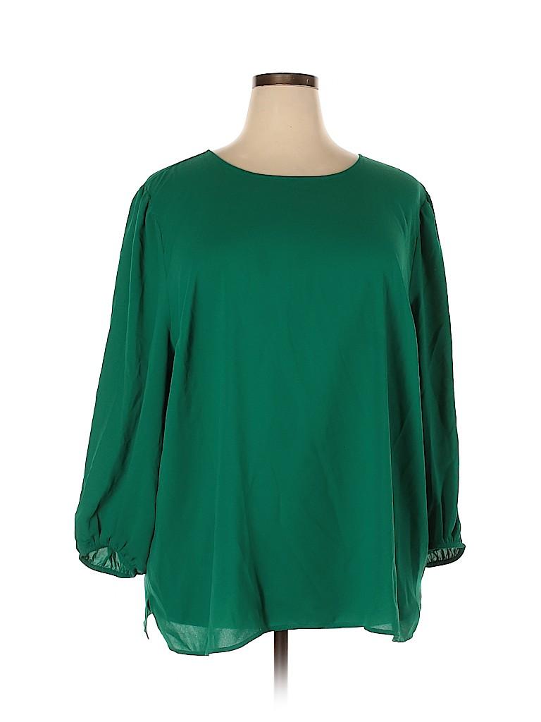 Loft design by... Women Long Sleeve Blouse Size 24 (Plus)