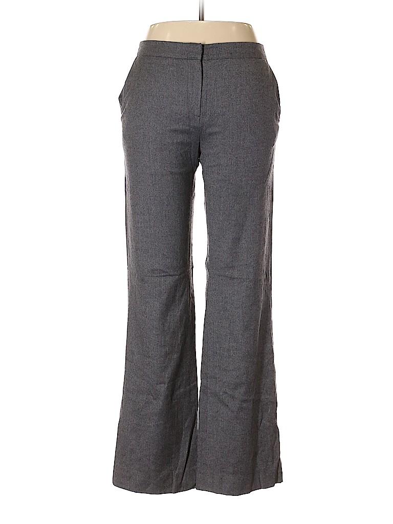 Oscar De La Renta Women Wool Pants Size 10