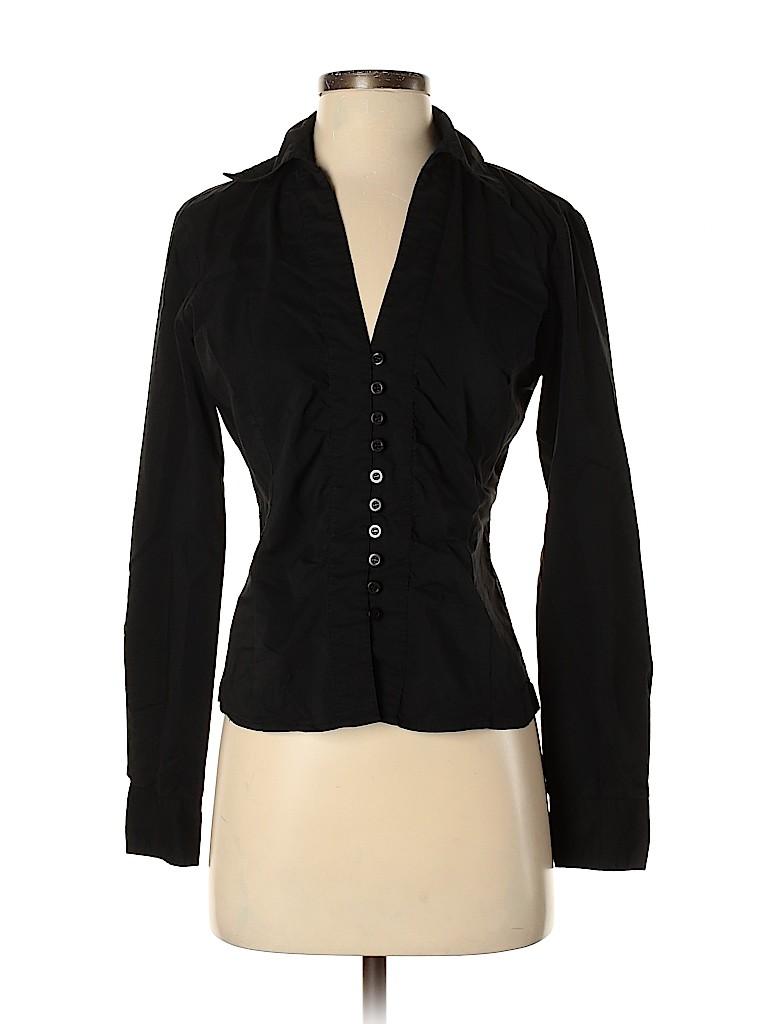 New York & Company Women Long Sleeve Button-Down Shirt Size 4