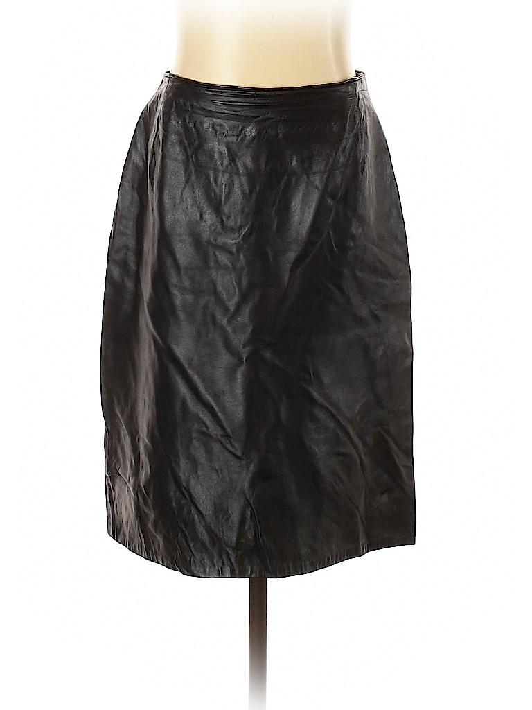 Firenze Santa Barbara Women Leather Skirt Size 8