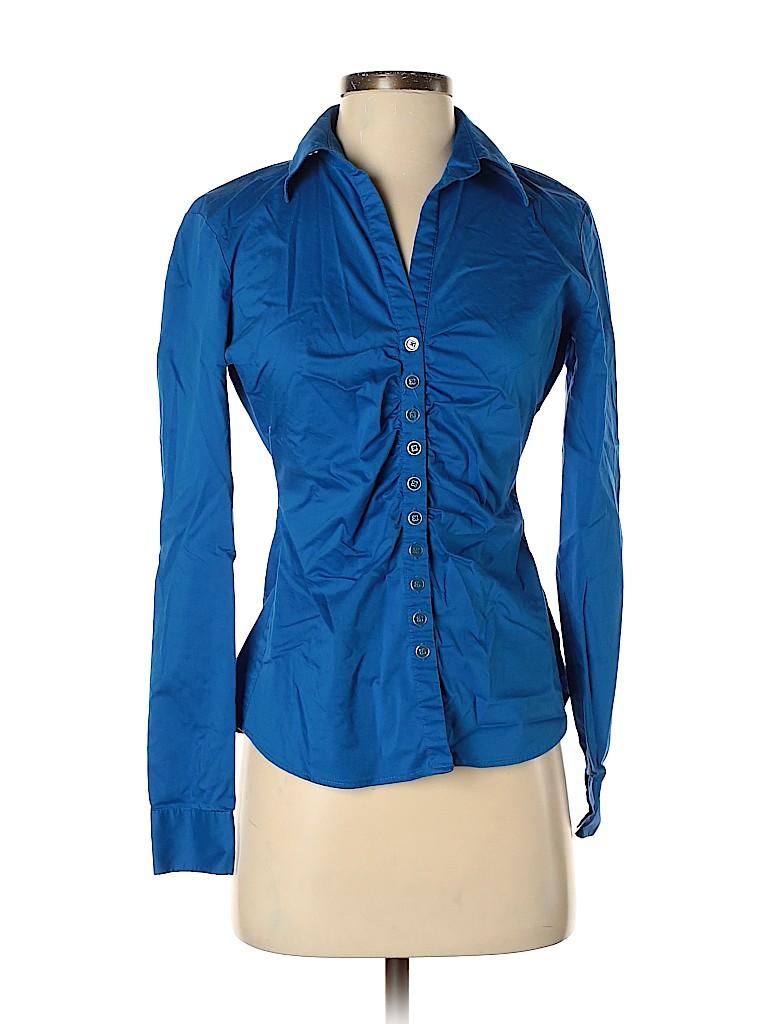 New York & Company Women Long Sleeve Button-Down Shirt Size XS