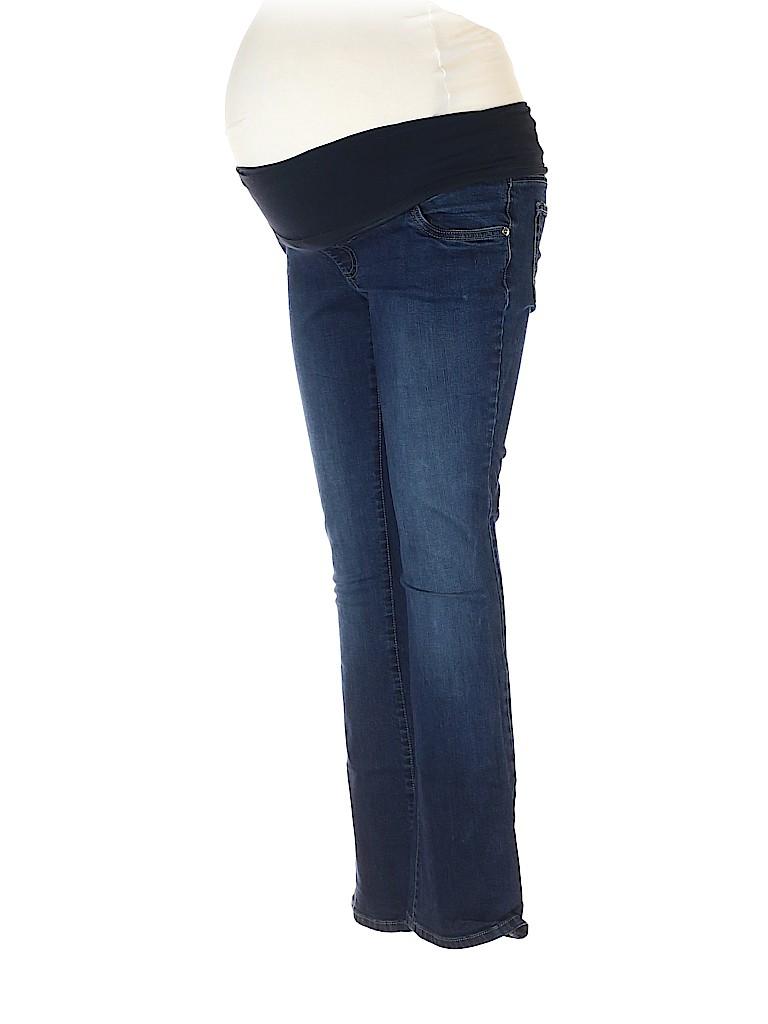 Indigo Blue Women Jeans Size L (Maternity)