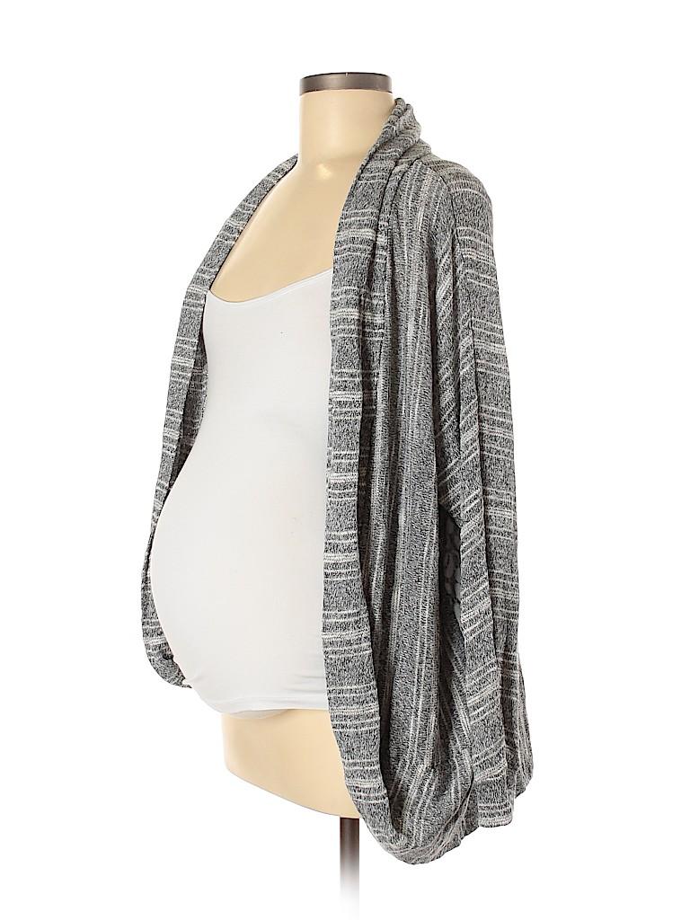 A Pea in the Pod Women Cardigan Size L (Maternity)