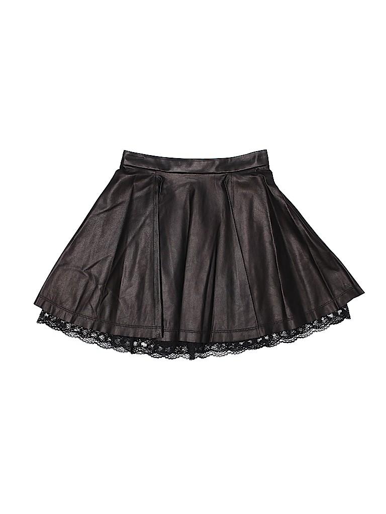 Alice + olivia Women Leather Skirt Size 0