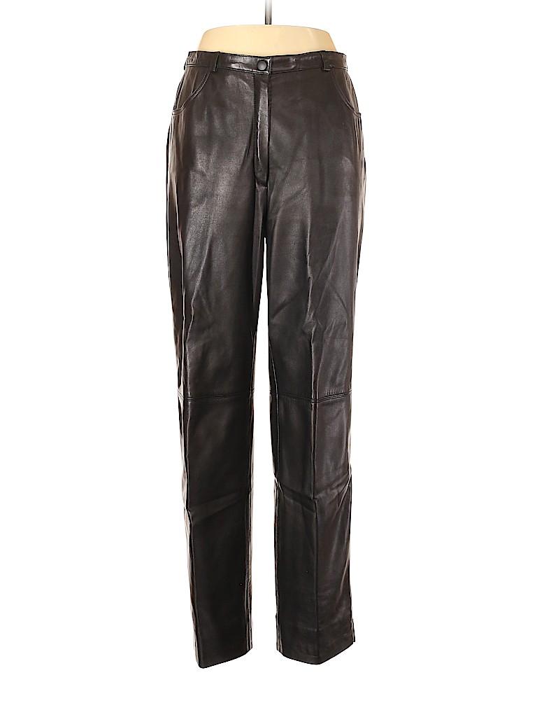 Escada Women Leather Pants Size 42 (EU)