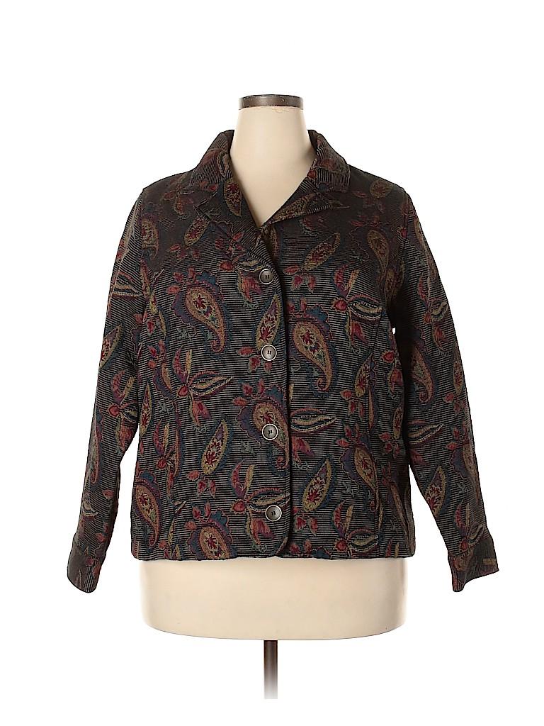 Cj Banks Women Jacket Size 1X (Plus)