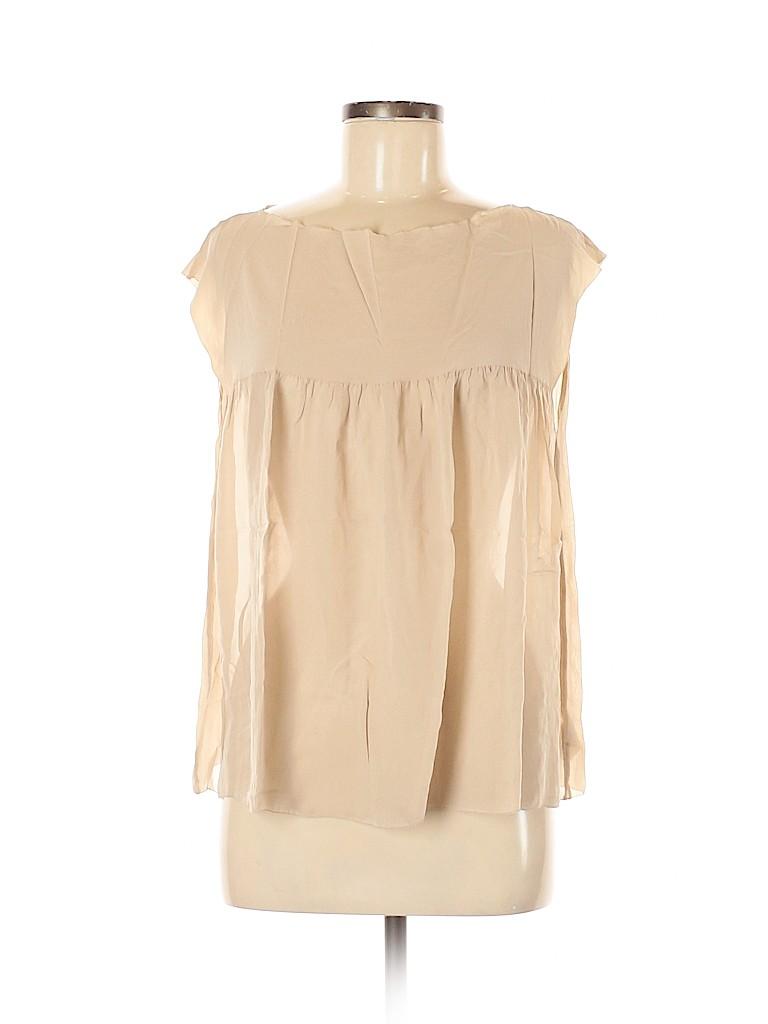 Vince. Women Short Sleeve Silk Top Size M