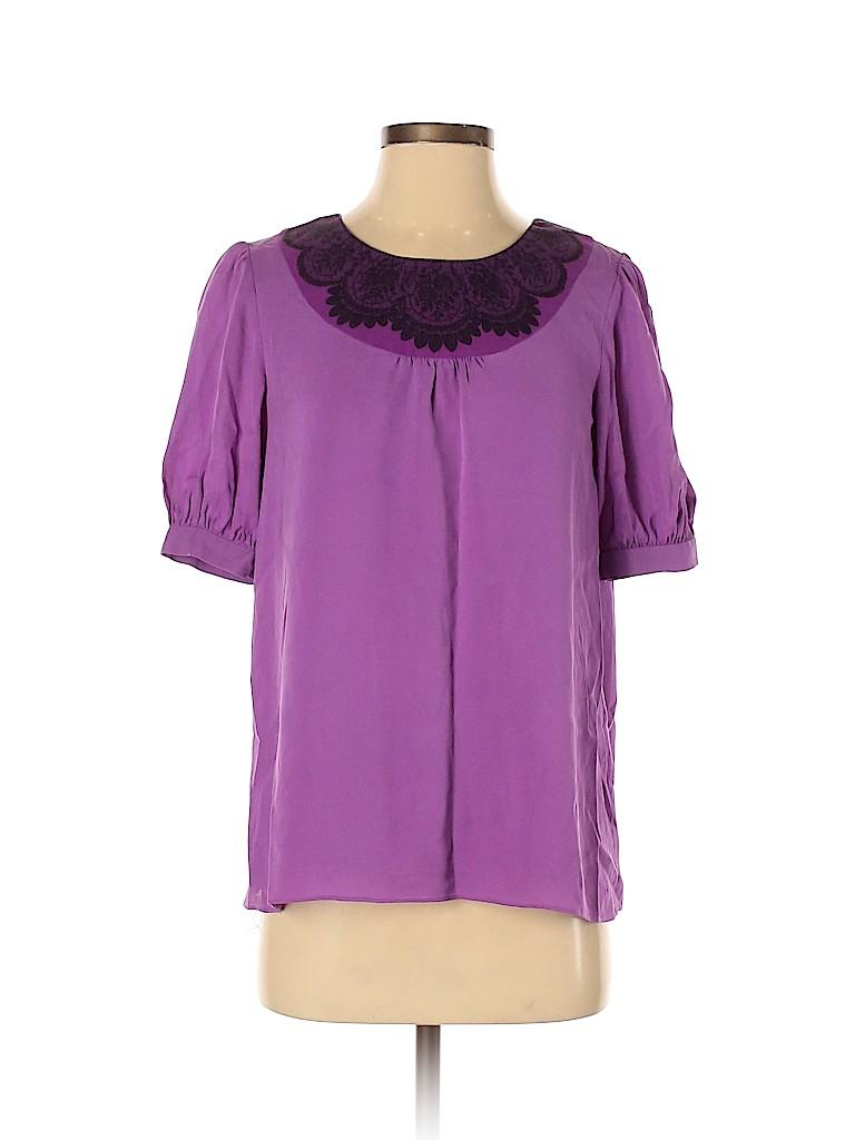 Tibi Women Short Sleeve Blouse Size 2