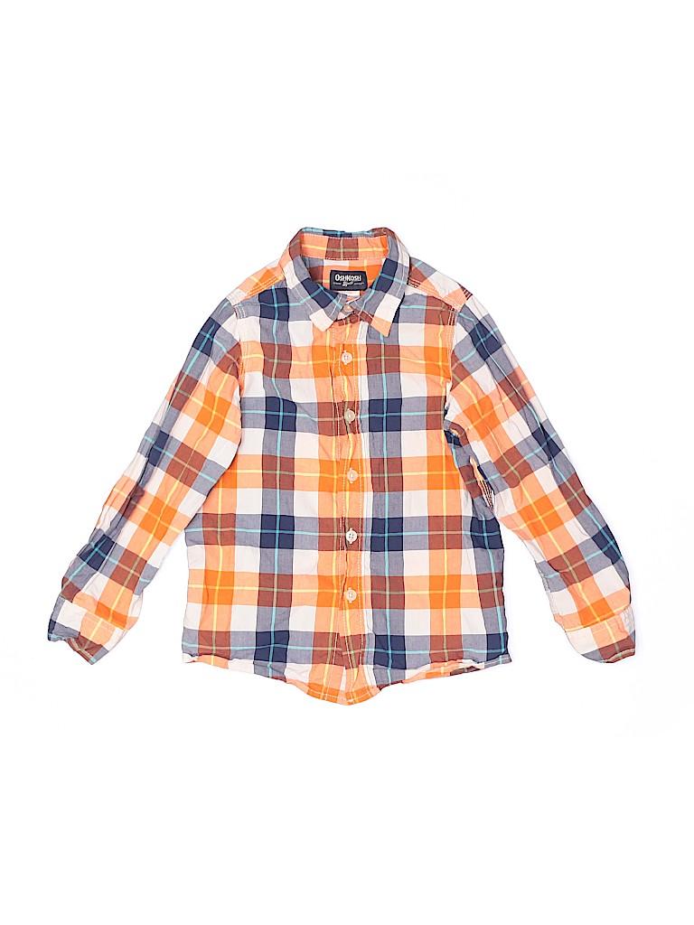 OshKosh B'gosh Boys Long Sleeve Button-Down Shirt Size 6