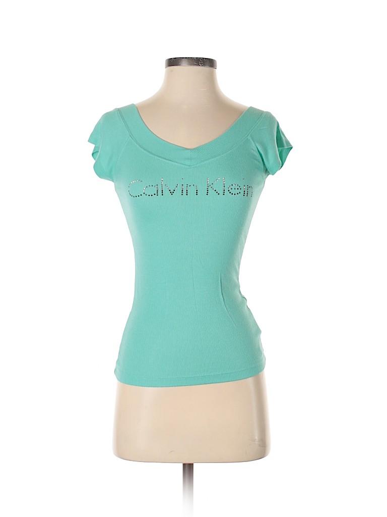 Calvin Klein Women Short Sleeve T-Shirt Size XS
