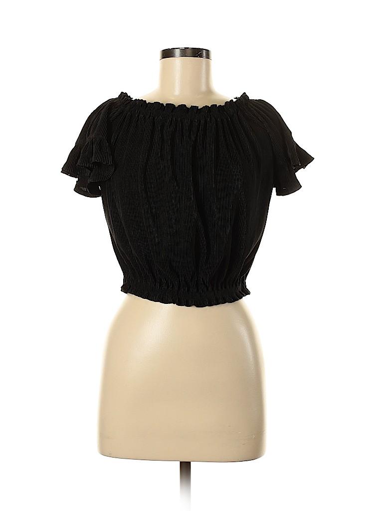Poof! Women Short Sleeve Top Size M