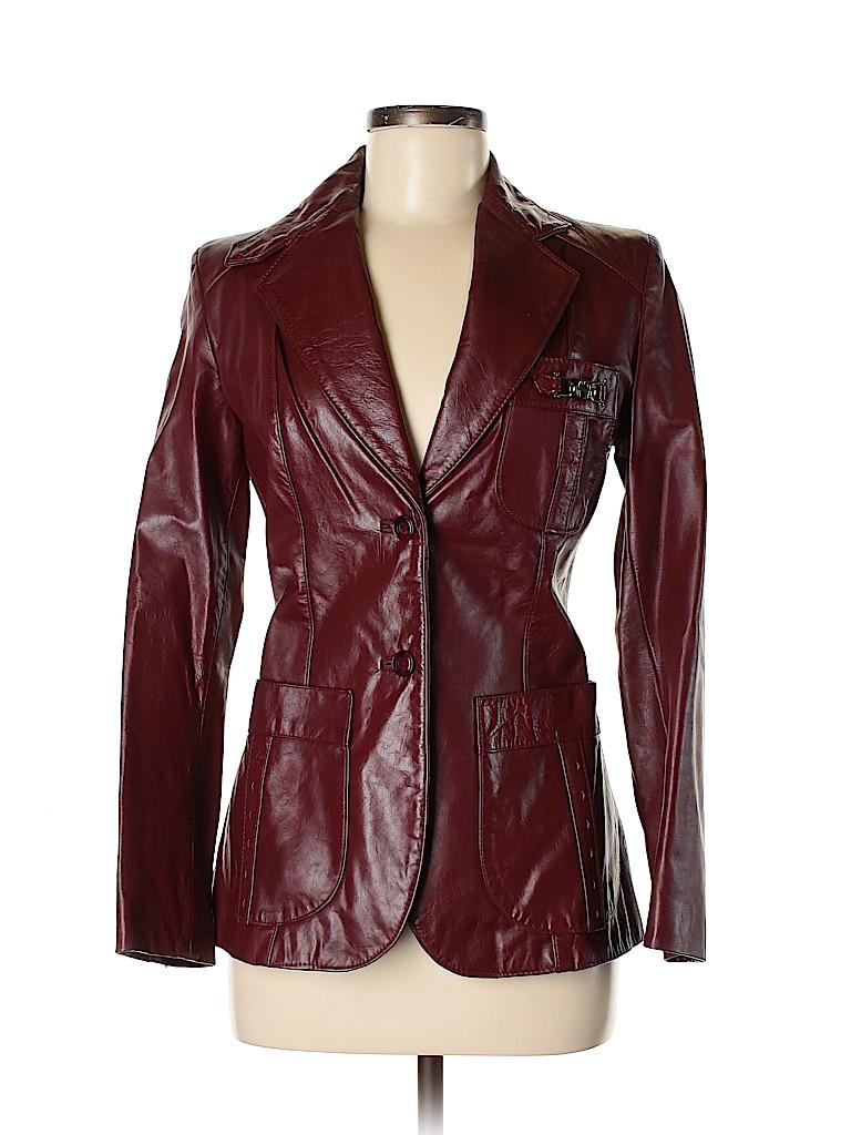 Etienne Aigner Women Leather Jacket Size 6