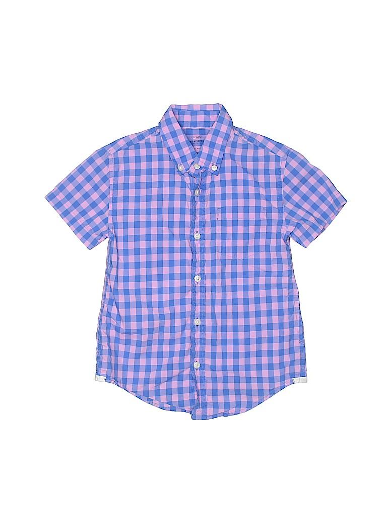 Crewcuts Boys Short Sleeve Button-Down Shirt Size 4 - 5