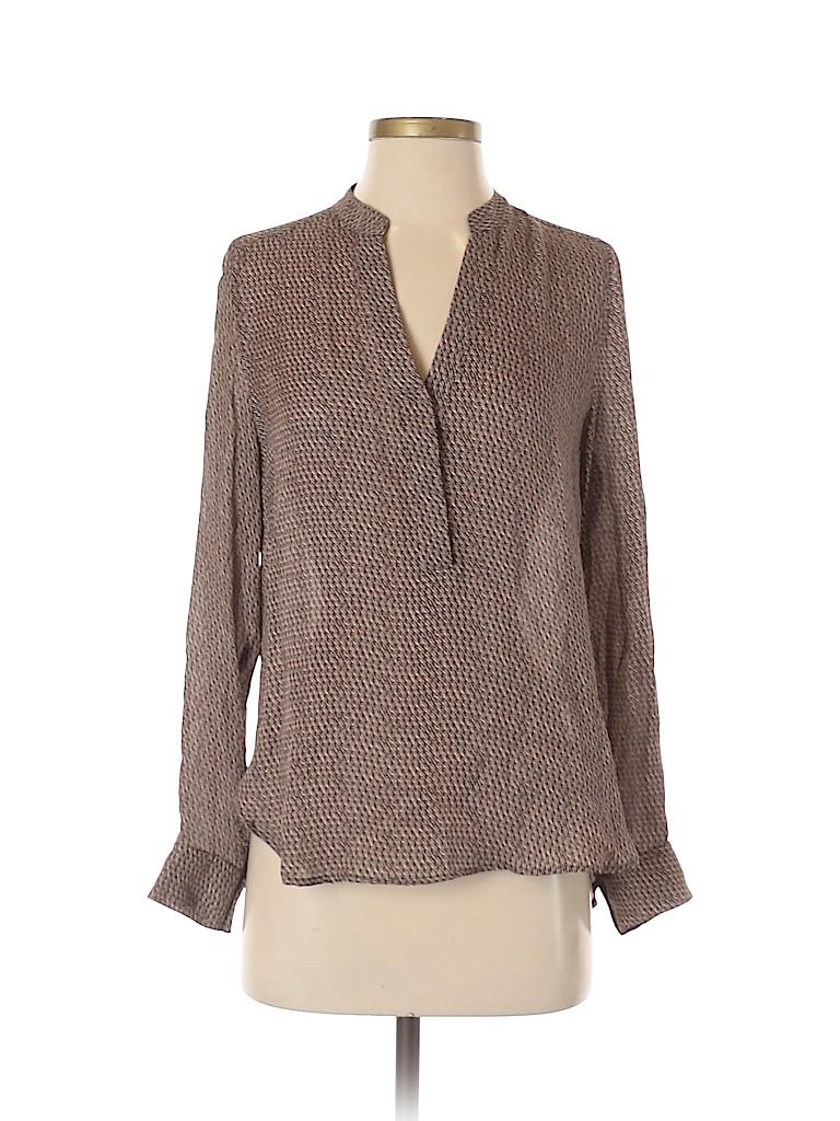 Vince. Women Long Sleeve Silk Top Size 2