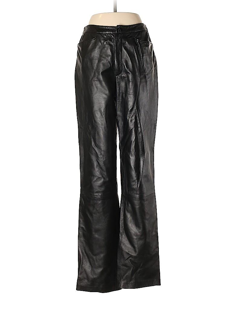 Linda Allard Ellen Tracy Women Leather Pants Size 4