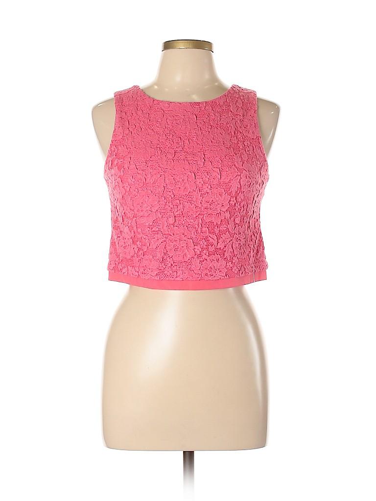 Aqua Women Sleeveless Top Size M