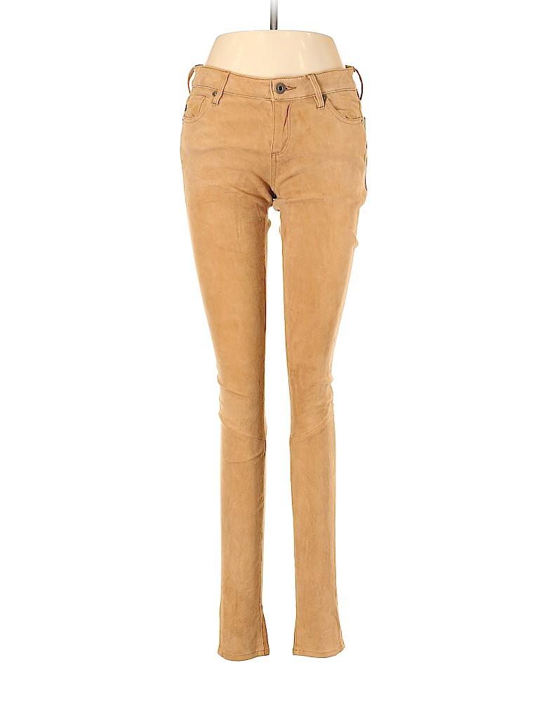 Adriano Goldschmied Women Leather Pants 27 Waist