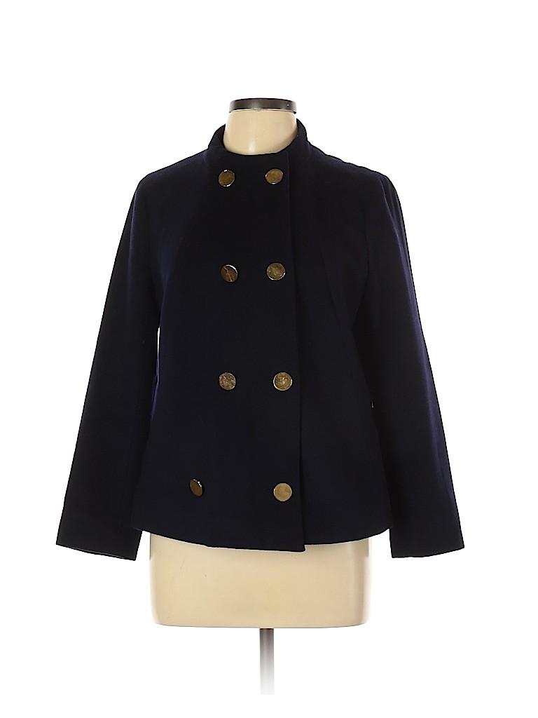 Tory Burch Women Wool Coat Size 10