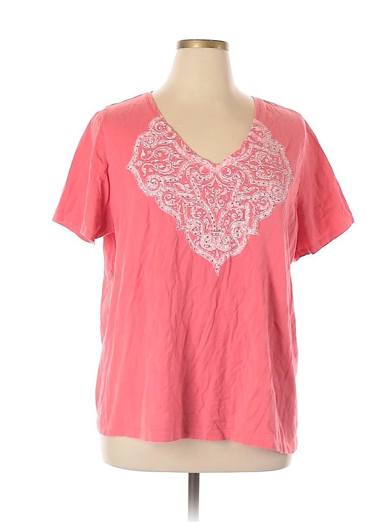 Lane Bryant Women Short Sleeve T-Shirt Size 22 - 24 Plus (Plus)