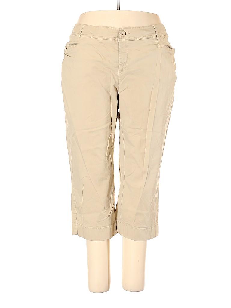 Sejour Women Khakis Size 20W (Plus)