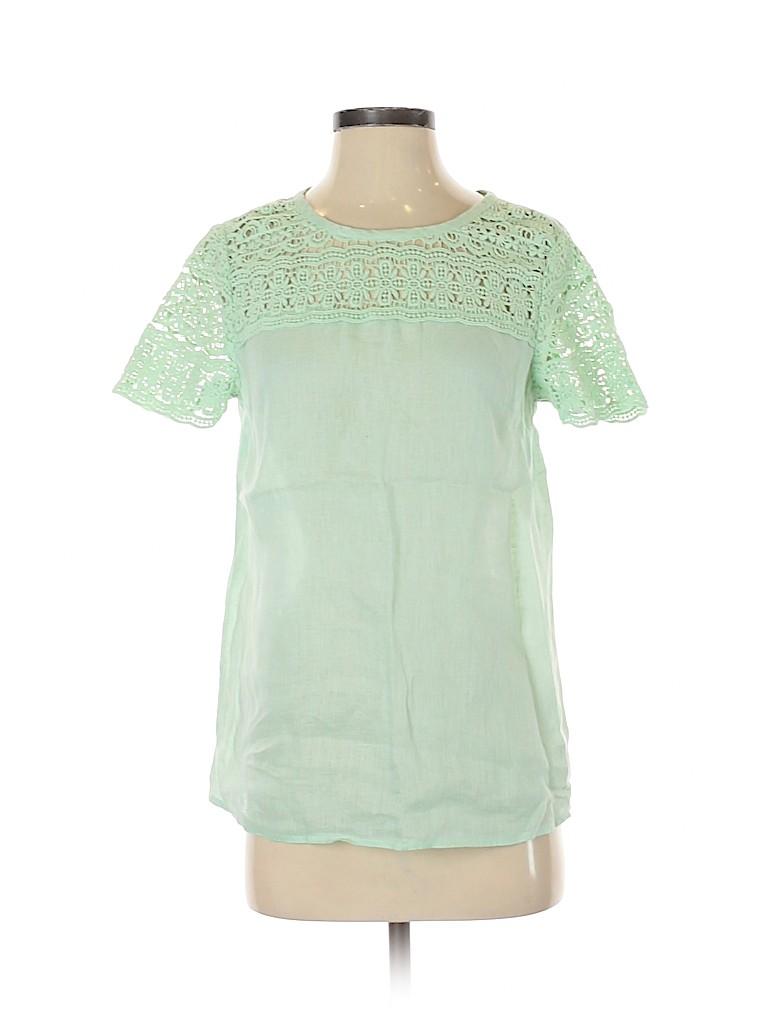 J. Crew Women Short Sleeve Blouse Size 2