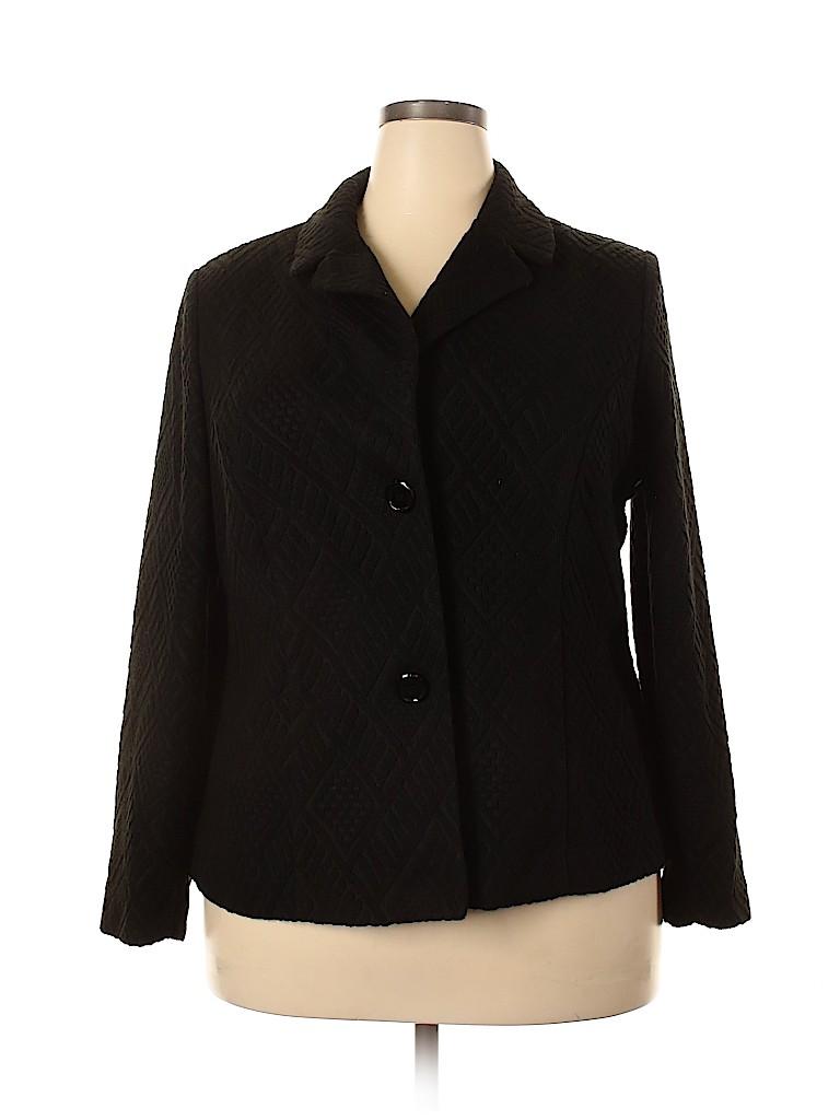 Kim Rogers Women Blazer Size 2X (Plus)