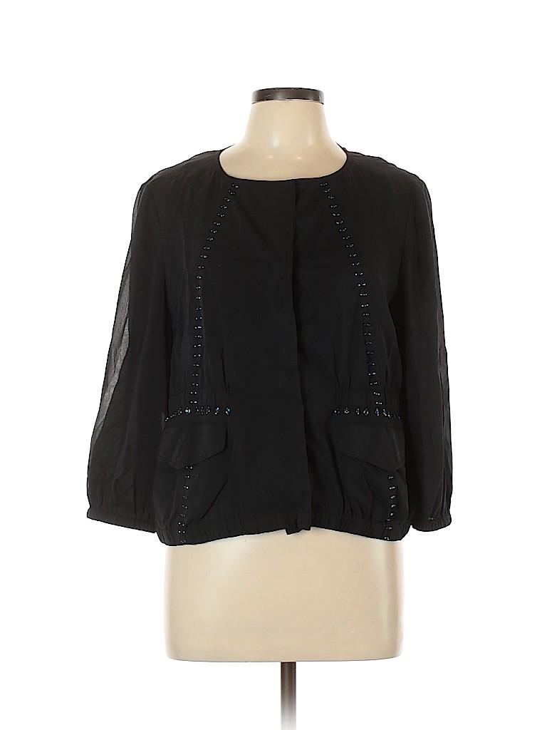 DKNY Women 3/4 Sleeve Silk Top Size 12