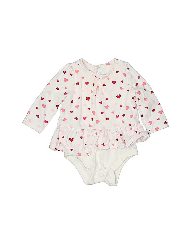 Baby Gap Girls Long Sleeve Onesie Size 3-6 mo
