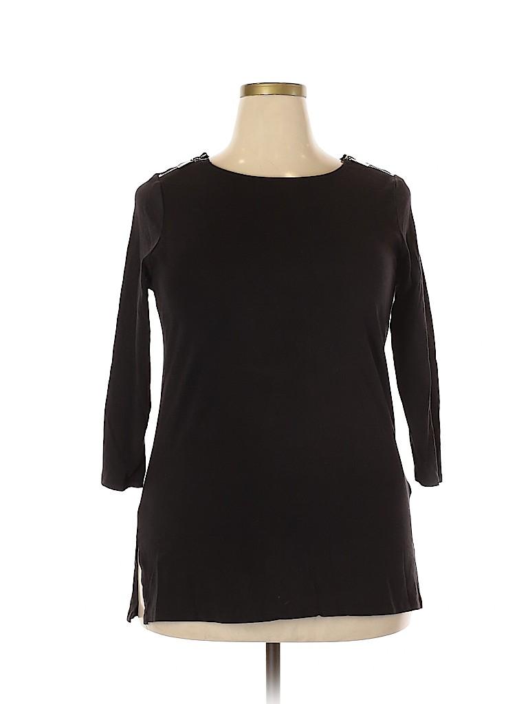 MICHAEL Michael Kors Women 3/4 Sleeve Top Size 1X (Plus)
