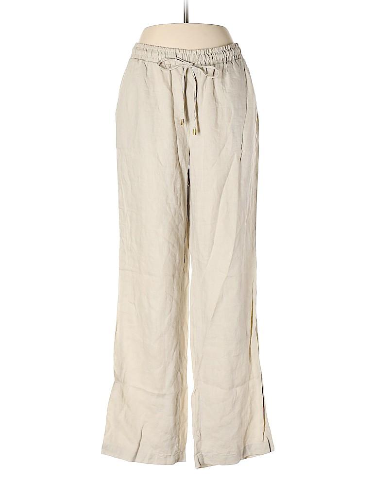 Ellen Tracy Women Linen Pants Size S