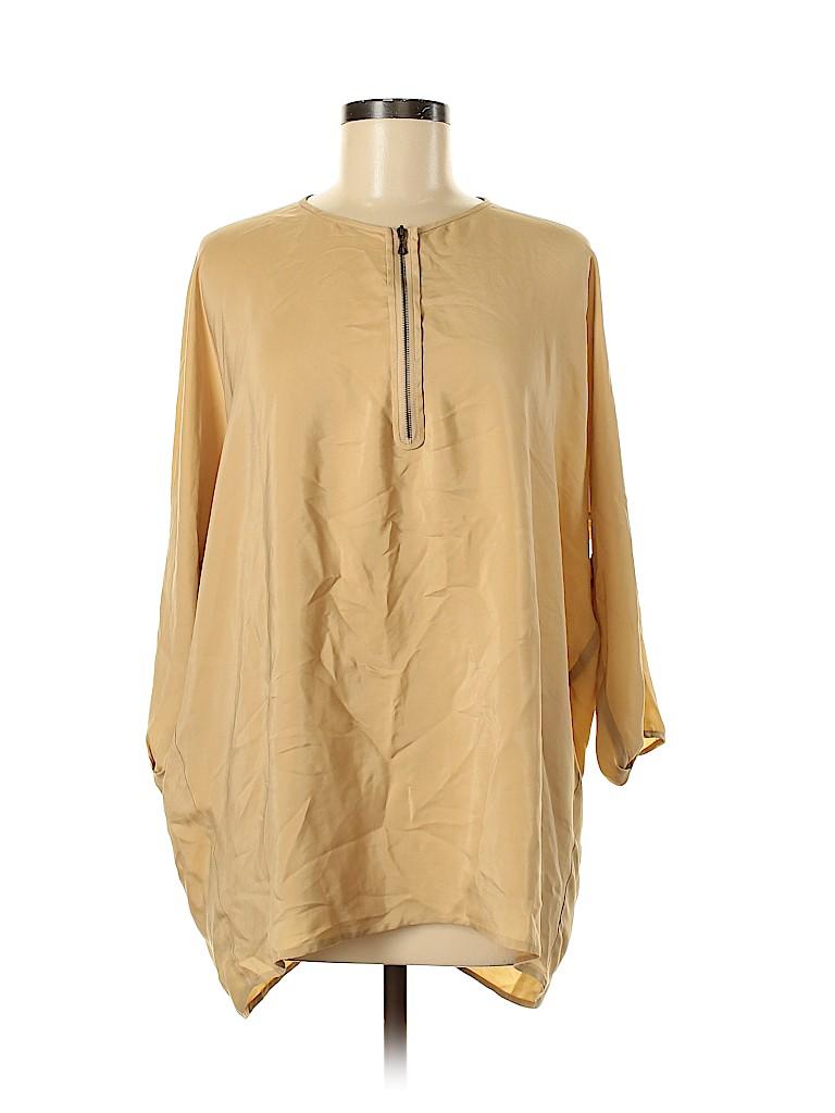 Vince. Women 3/4 Sleeve Silk Top Size L