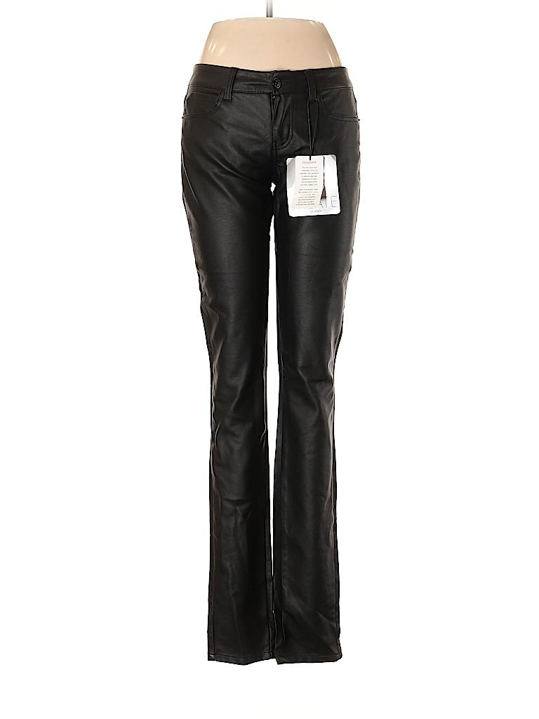 Jalate Women Faux Leather Pants Size 7