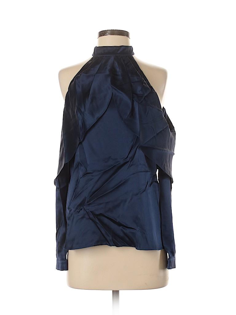 Parker Women Long Sleeve Silk Top Size XS