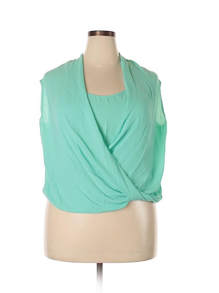 Mossimo Women Sleeveless Blouse Size XXL