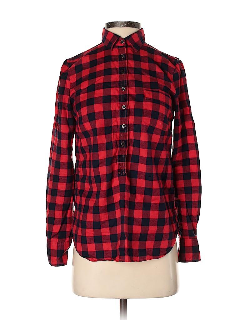 J. Crew Women Long Sleeve Button-Down Shirt Size XXS