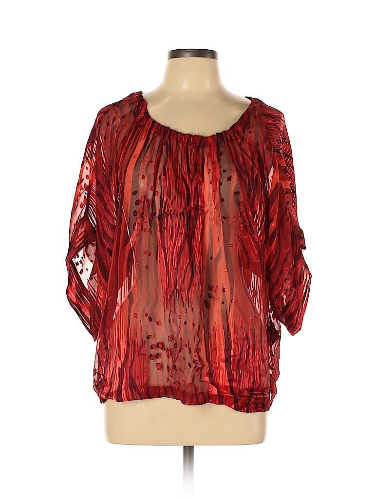 Rachel Zoe Women Short Sleeve Silk Top Size 10