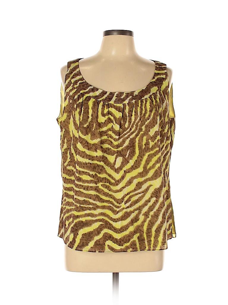 St. John Couture Women Short Sleeve Blouse Size XL