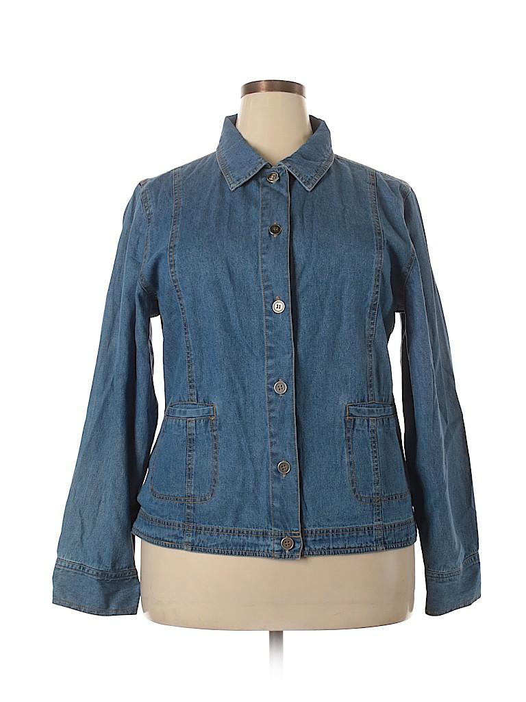 Las Olas Women Denim Jacket Size 1X (Plus)