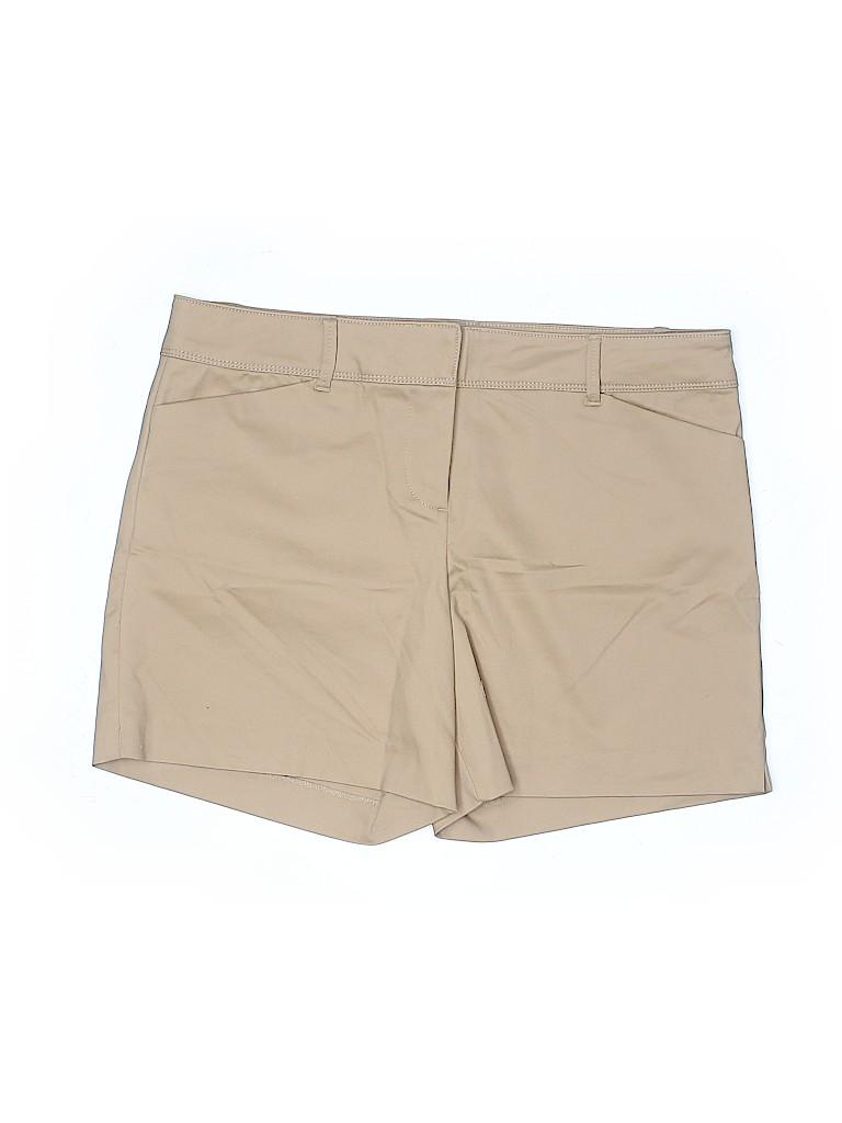 The Limited Women Khaki Shorts Size 14