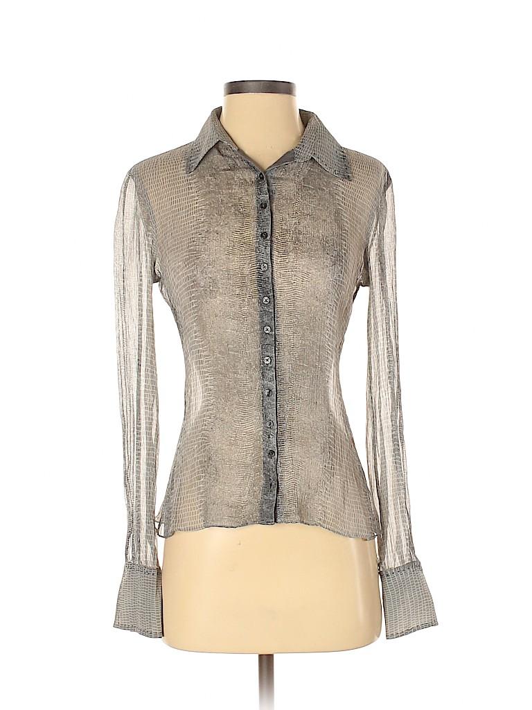 Elie Tahari Women Long Sleeve Button-Down Shirt Size XS