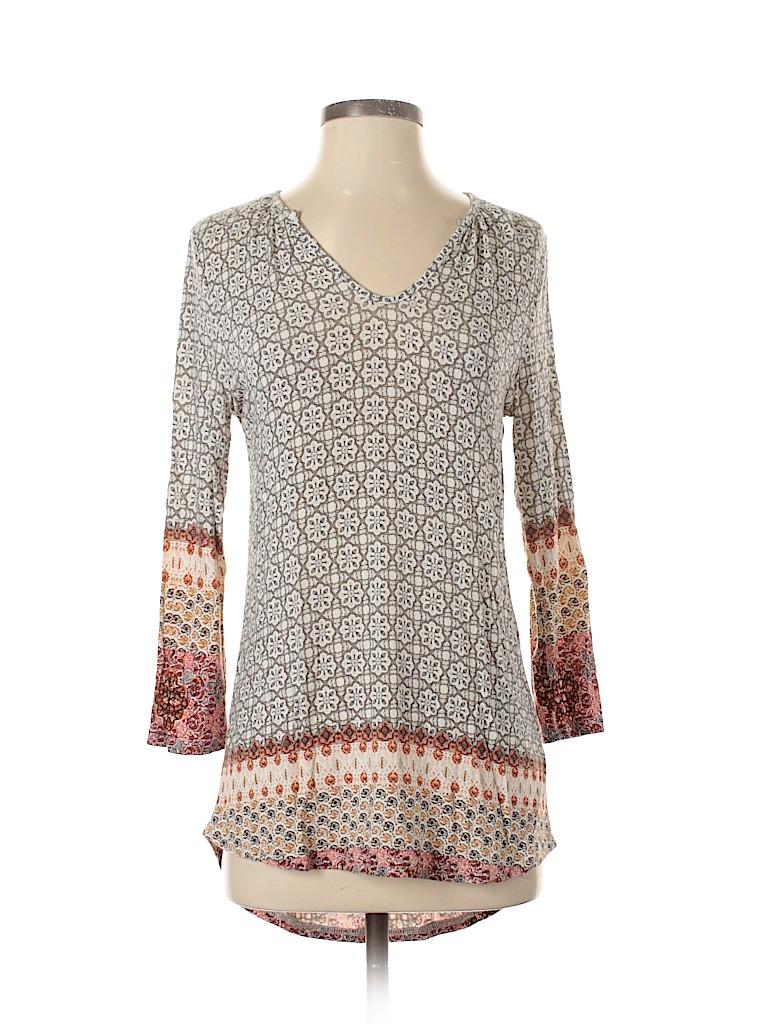 Lila Rose Women 3/4 Sleeve Top Size XS