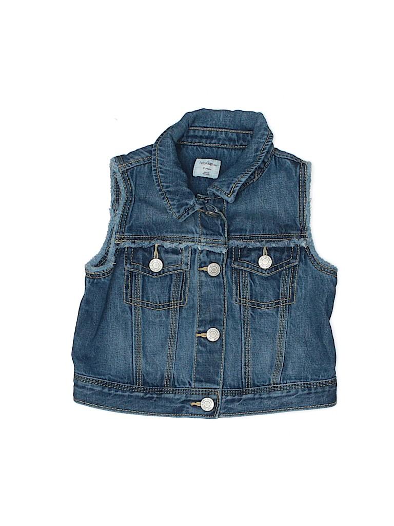 Baby Gap Girls Denim Vest Size 3