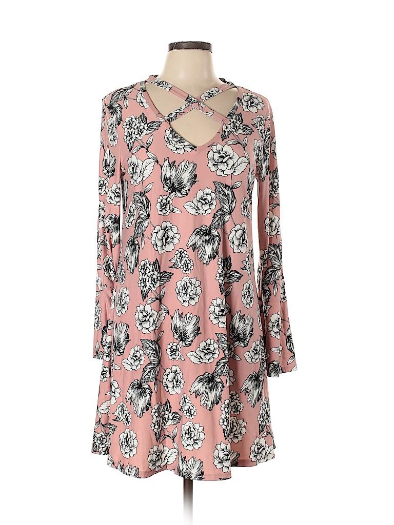 Pink Rose Women Casual Dress Size XL