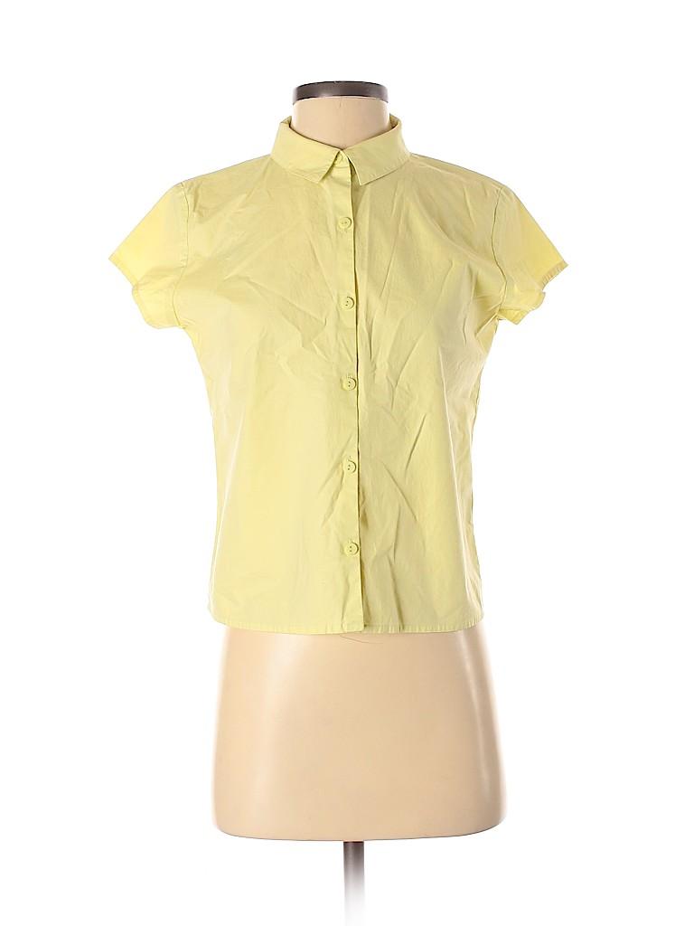 Eileen Fisher Women Short Sleeve Button-Down Shirt Size S