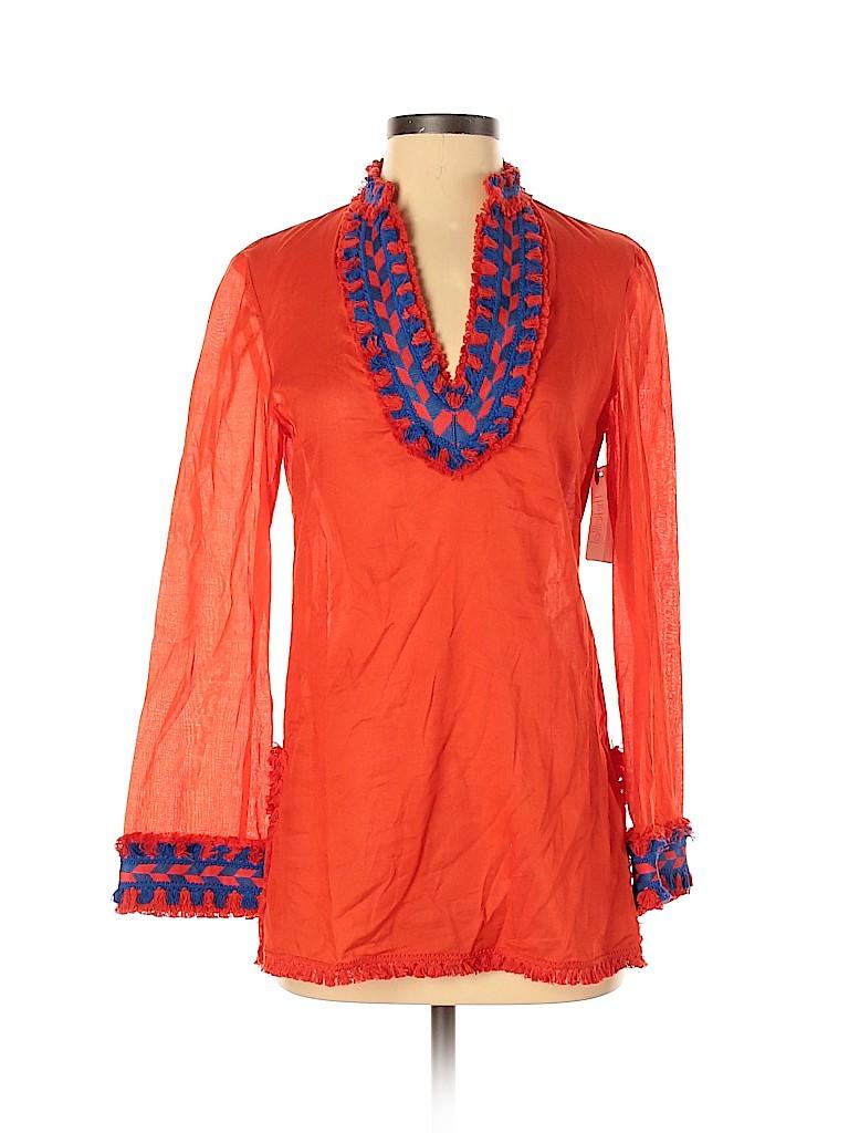 Tory Burch Women Long Sleeve Blouse Size 2