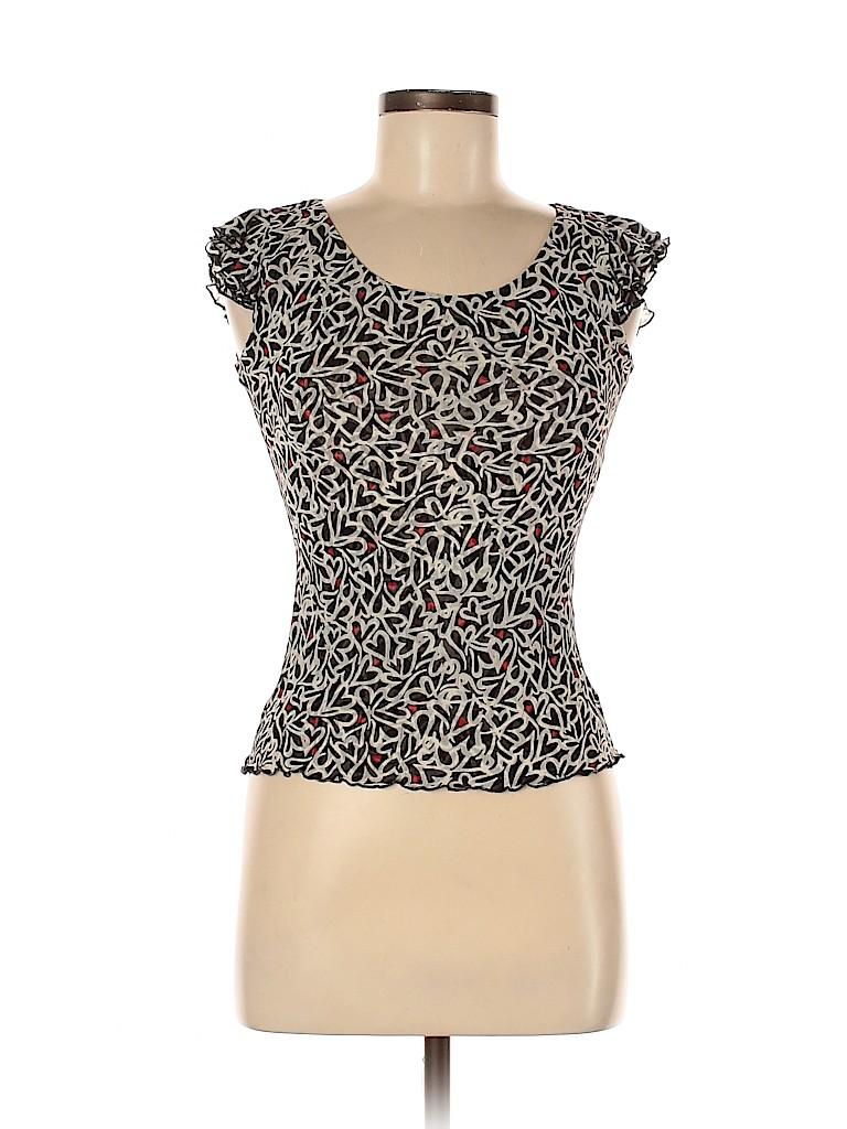 Diane von Furstenberg Women Sleeveless Silk Top Size M