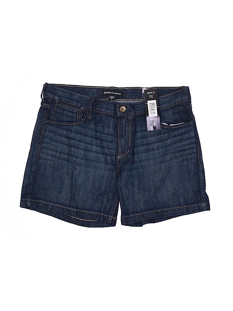 George & Martha Women Denim Shorts 34 Waist