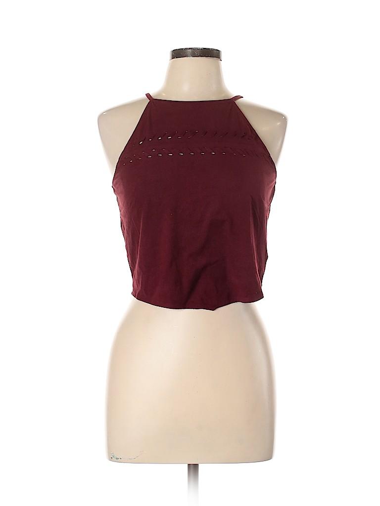 Material Girl Women Sleeveless Blouse Size L